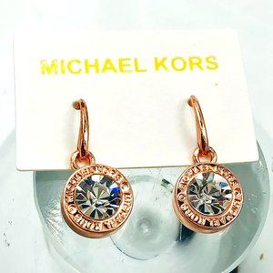 MICHAEL KORS Diamond Statement Earrings, ROSE GOLD